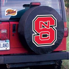 North Carolina State Logo Tire Cover - Black