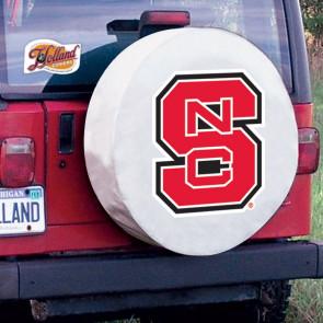 North Carolina State Logo Tire Cover - White