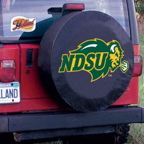 North Dakota State Logo Tire Cover - Black