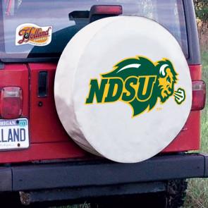 North Dakota State Logo Tire Cover - White