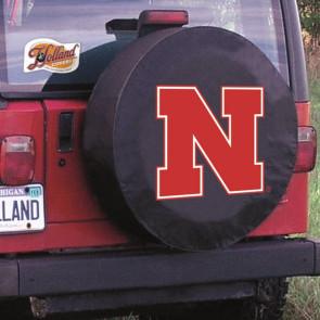 University of Nebraska Logo Tire Cover - Black