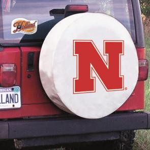 University of Nebraska Logo Tire Cover - White