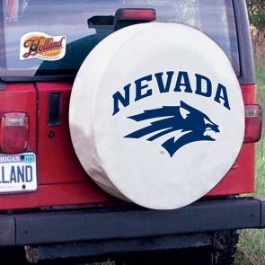 University of Nevada Logo Tire Cover - White