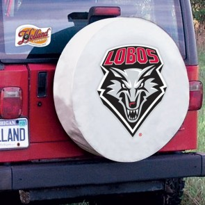 University of New Mexico Logo Tire Cover - White