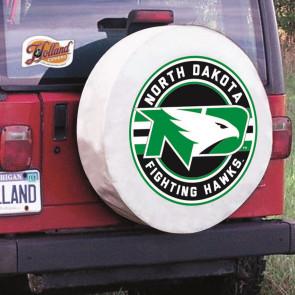 University of North Dakota Logo Tire Cover - White