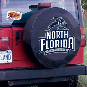 University of North Florida Logo Tire Cover - Black