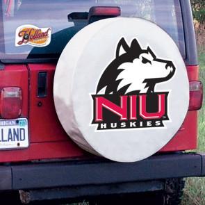 Northern Illinois University Logo Tire Cover - White