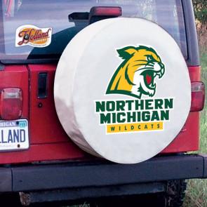 Northern Michigan University Logo Tire Cover -  White