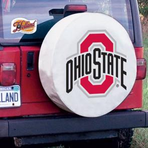 Ohio State Tire Cover White