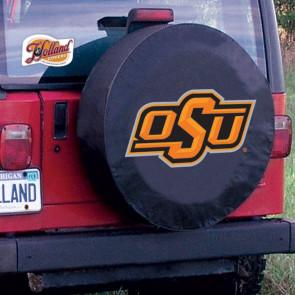 Oklahoma State University Logo Tire Cover - Black