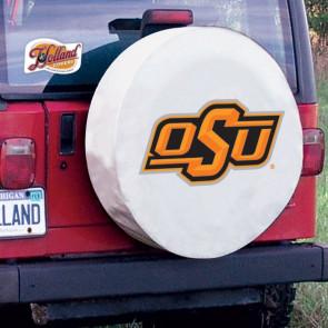 Oklahoma State University Logo Tire Cover - White
