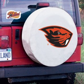 Oregon State University Logo Tire Cover - White