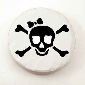 Pirate Girl (black on white) Logo Tire Cover