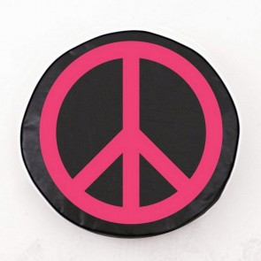 Pink Peace Sign Tire Cover