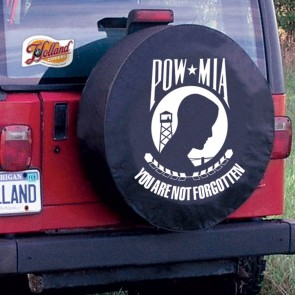 POW - MIA Logo Tire Cover - Black