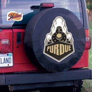 Purdue University Logo Tire Cover - Black