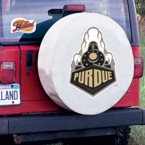 Purdue University Logo Tire Cover - White