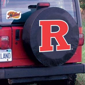 Rutgers University Logo Tire Cover - Black