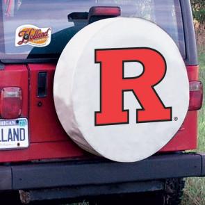 Rutgers University Logo Tire Cover - White