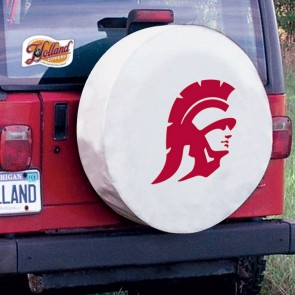 University of Southern California Logo Tire Cover - White