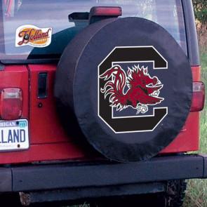 University of South Carolina Logo Tire Cover - Black