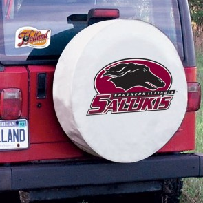 Southern Illinois University Logo Tire Cover -  White