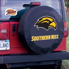 Southern Miss Tire Cover Black