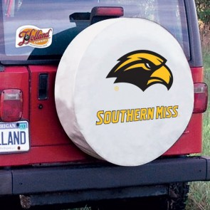 University of Southern Mississippi Logo Tire Cover - White