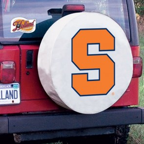 Syracuse University Logo Tire Cover - White