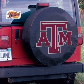 Texas A&M Logo Tire Cover - Black