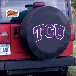 Texas Christian University Logo Tire Cover - Black