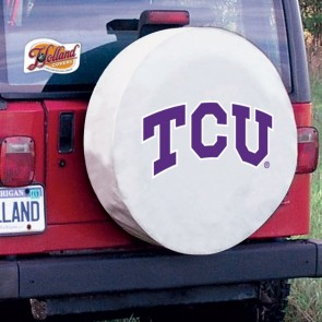 Texas Christian University Logo Tire Cover - White