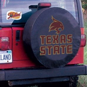 Texas State University Logo Tire Cover -  Black