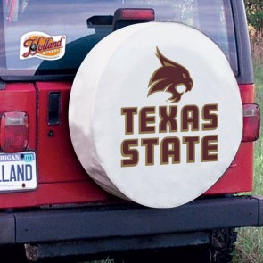 Texas State Tire Cover White