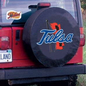 University of Tulsa Logo Tire Cover - Black