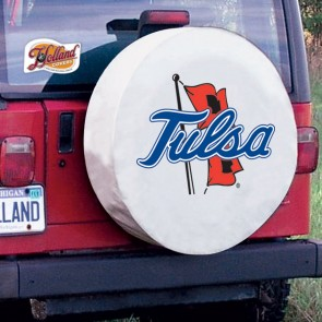 University of Tulsa Logo Tire Cover - White