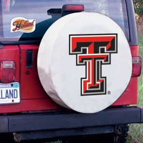 Texas Tech Logo Tire Cover - White