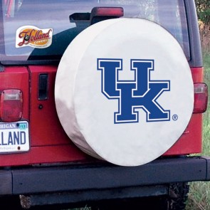 Kentucky UK White Tire Cover Lifestyle