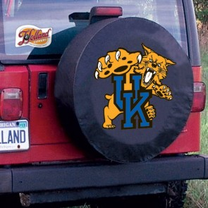 Kentucky Wildcat Black Tire Cover Lifestyle