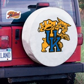 Kentucky Wildcat White Tire Cover Lifestyle