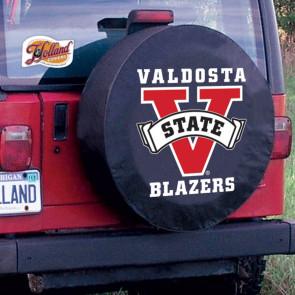 Valdosta State University Logo Tire Cover -  Black
