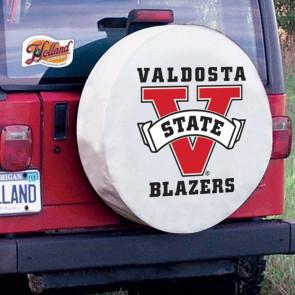Valdosta State University Logo Tire Cover -  White