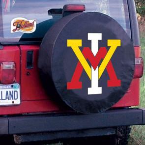 Virginia Military Institute Logo Tire Cover - Black