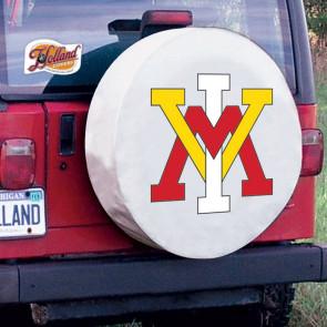 Virginia Military Institute Logo Tire Cover - White