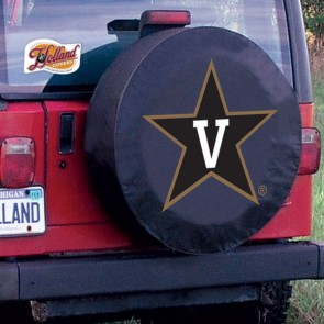 Vanderbilt University Logo Tire Cover - Black