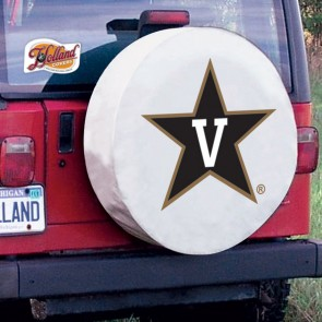 Vanderbilt University Logo Tire Cover - White