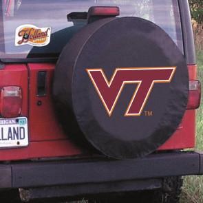 Virginia Tech Logo Tire Cover - Black
