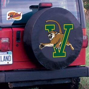 University of Vermont Logo Tire Cover - Black