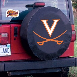 University of Virginia Logo Tire Cover - Black