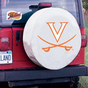 University of Virginia Logo Tire Cover - White